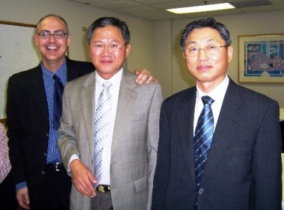 Dr. Kirk Bowman, Dr. Taehyun Kim and Consul Lee Hee Chul