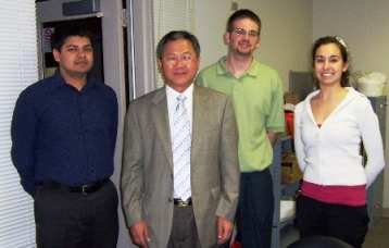 Dr. Taehyun Kim with some International House Students